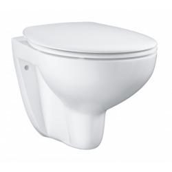 Pack Bâti-support ROCA ACTIVE + WC Grohe Bau Ceramic sans bride + abattant softclose + plaque chrome mat (RocaActiveBau-2)