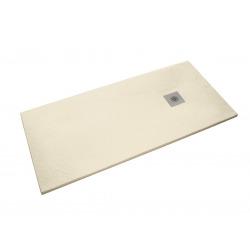 Receveur de douche rectangulaire Stone 120x80 cm marbre coulé, beige (SIKOSTONE12080SN)
