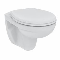 Set complet bati support autoportant + WC suspendu Porcher sans bride + plaque double touche blanche (AlcaPorcherRimless-3)