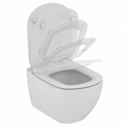 Set complet bati support autoportant + WC Ideal Standard Tesi Aquablade sans bride + plaque noire mate (AlcaTesi-7)