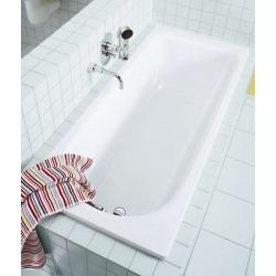 Baignoire Eurowa en acier émaillé blanc alpin avec pieds de bain universels Allround 5030 (119800010001-SET)