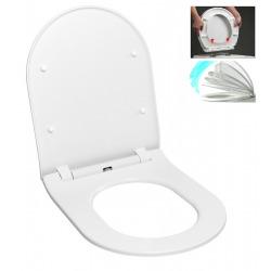 Abattant WC Ultra mince, à fermeture douce Softclose, blanc (EASYSLIM44)