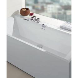 Baignoire rectangulaire Squaro 190x90 cm marbre coulé, blanc (UBQ190SQE2DV-01)