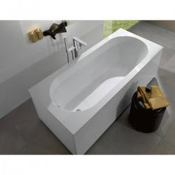 Baignoire rectangulaire Oberon 170x70 cm marbre coulé, blanc (UBQ177OBE2V-01)