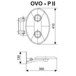 Ovo-P II-Clear siège de douche rabattable PMR pour cabine de douche (B8F0000048)