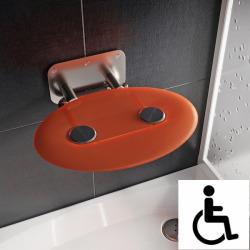Ovo-P II-Orange siège de douche rabattable PMR pour cabine de douche (B8F0000050)