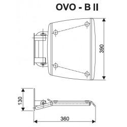 Ovo-B II-Clear siège de douche rabattable PMR pour cabine de douche (B8F0000051)