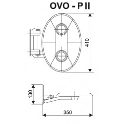 Ovo-P II-Opal siège de douche rabattable PMR pour cabine de douche (B8F0000049)