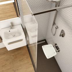 Ovo-B II-Opal siège de douche rabattable PMR pour cabine de douche (B8F0000052)