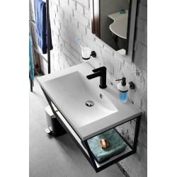 Distributeur de savon mural DARK en laiton noir et verre 230ml (104109010)