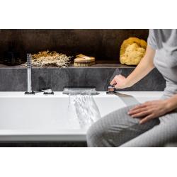 Chrome robinet de baignoire avec set de douche chromé (CR025.00)