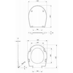 Rekord Abattant de WC dur en duroplast avec inclinaison progressive (K90112000)