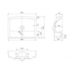 Rekord Lavabo de meubles 50cm, avec mitigeur et débordement (K91952000)