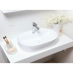 Vasque à poser Infinitio 60 x 40 x 12,5 cm sans trop-plein, blanc (SATINF6040)