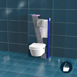 Pack bâti-support Rapid Sl + Cuvette Villeroy & Boch Architectura + Abattant softclose + Set habillage(ArchitecturaGrohe1)