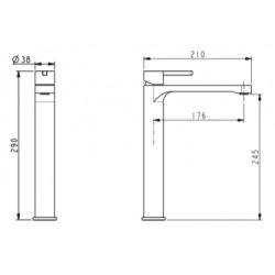 Mitigeur de lavabo haut Swiss Aqua Technologies Fusion sans drain chromé (SATBSFU285TCH)