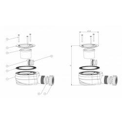 Multi siphon pour receveur de douche