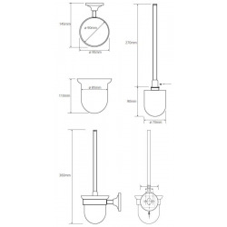 Ricordi porte-brosse WC chrome (OPTIMARIC37CR)
