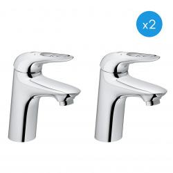 """Eurostyle - Lot de 2 mitigeurs monocommande 1/2"""" lavabo Taille S (32468003-DUO)"""