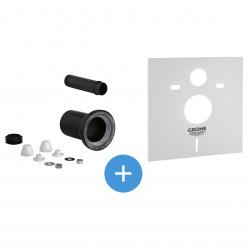 Set garniture de raccordement pour WC suspendu + Isolation phonique (