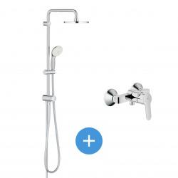 BauEdge - Tempesta Ensemble de douche avec mitigeur à levier et colonne garnie (27389XXX)