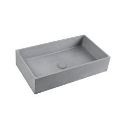 Cemento Vasque à poser en béton ciré 64x36,5 cm, finition gris mat sans trop-plein (CEM6437S)