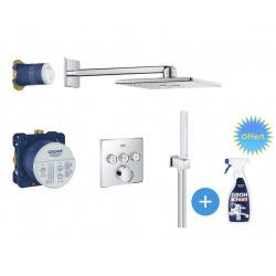 SmartControl Set de douche + GrohClean Nettoyant pour robinetteries (34712000-PLUS)