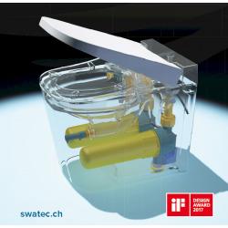 OptimFlush WC hybride OFS avec abattant frein de chute (SATOFSHFS2)