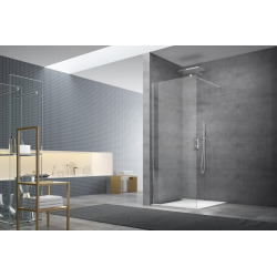Walk-in Set de paroi de douche à l'italienne anti calcaire 117x200 cm (WI120-SET)