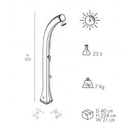 Happy - Douche solaire pour piscine avec lave-pieds, anthracite (H120/7016)
