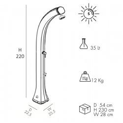 Happy XL - Douche solaire extérieure avec lave-pieds, fuchsia (H420/4003)