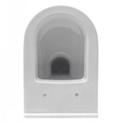 Pack WC Bâti Duofix + Cuvette suspendue Vitra S50 avec bride + Abattant soft close + Plaque blanche (S50Geb3)