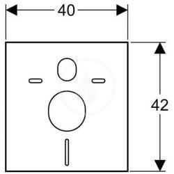 Set d'isolant phonique pour WC ou Bidet suspendu (156.050.00.1)