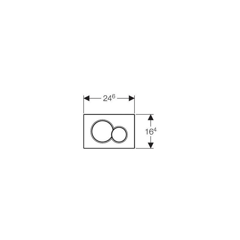 Geberit sigma01 plaque de declenchement chrom mat livea sanitaire sas - Geberit plaque de declenchement ...