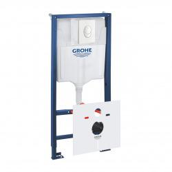 Grohe Pack WC Bâti-support Rapid SL + Plaque de Commande Skate Air Blanc Alpin + Fixations + Set d'isolation (38528001-3)