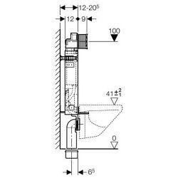 KOMBIFIX pro závěsné WC, nádržka UP 320