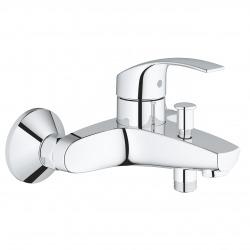 Pack Eurosmart mitigeur monocommande bain/douche + Ensemble de douche complet 3 jets Tempesta 100 (32158002-TEMPESTA)