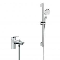 Pack Focus Mitigeur bain/douche C2 monotrou avec cartouche à 2 vitesses + Set de douche Crometta Vario (71315000-CROMETTA)