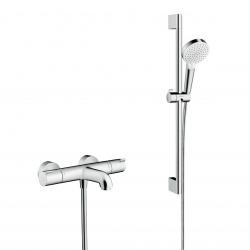 Pack Ecostat 1001 CL Mitigeur Thermostatique bain/douche + Set de douche Crometta Vario (71401000-CROMETTA)