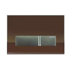 Geberit 115600SQ1 Sigma 40 Plaque de recouvrement rinçage à 2 boutons Umbra/Alu Brossé