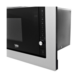 Micro-ondes encastrable 20L avec 8 programmes + écran LCD + minuterie 95mn, Acier inoxydable (MOB20231BG)