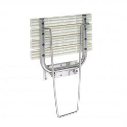 BEMETA Help Siège de douche rabattable avec jambe de sécurité en Acier inoxydable, Blanc (301102181)