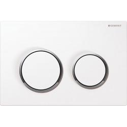 Plaque de déclenchement Omega 20 blanc/chromé brillant/blanc - 115.085.KJ.1