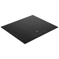 Table induction avec 4 foyers + 1 zone modulaire, fonction d'arrêt automatique, 7200 W, 60cm, Noir (HIC64401)