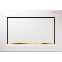 Plaque de déclenchement OMEGA30 GEBERIT, blanc doré (115.080.KK.1)