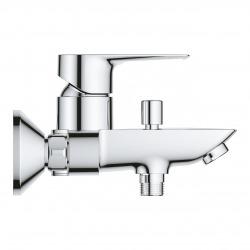 Start Loop Mitigeur monocommande bain/douche avec Limiteur de température, Chrome (23355001)