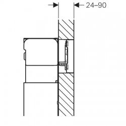 Plaque de déclenchement OMEGA60, blanc (115.081.SI.1)