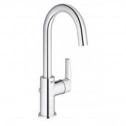 Start Mitigeur monocommande lavabo taille L avec Limiteur de température, Chrome (23554001)