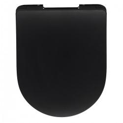 Alfa - Abattant Softclose noir mat (AL030SBL)