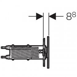 Plaque de déclenchement OMEGA70 GEBERIT, blanc (115.084.SI.1)